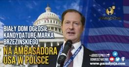 Biały Dom ogłosił kandydaturę Marka Brzezińskiego na ambasadora USA w Polsce